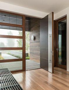 Пластиковые входные двери для частного дома: 70+ стильных и надежных реализаций http://happymodern.ru/plastikovye-vxodnye-dveri-dlya-chastnogo-doma/ Металлопластиковый профиль входной двери частного дома в современном минималистичном стиле