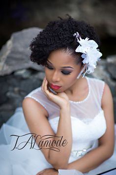 Nigerian Bridal Natural Hair and Makeup Shoot - Black Bride - BellaNaija 2015 04