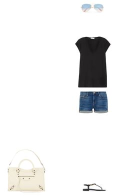 """Untitled #1"" by glasgowb1 ❤ liked on Polyvore featuring Ray-Ban, James Perse, Frame and Balenciaga"