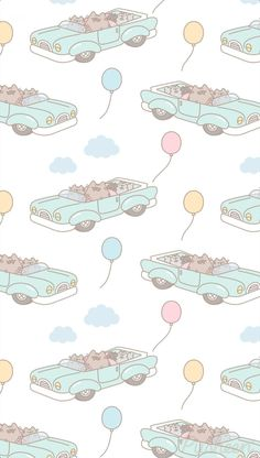 Pusheen the cat iphone wallpaper Father's Day Cover Wallpaper, Plant Wallpaper, Kawaii Wallpaper, Pattern Wallpaper, Pusheen Love, Pusheen Cat, Cute Wallpaper Backgrounds, Cute Wallpapers, Iphone Backgrounds