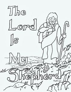 Coloring Pages for Kids by Mr Adron Printable Psalm 232 Coloring