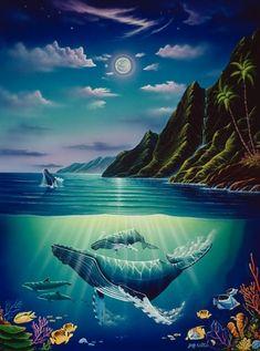 painting by Jeff Wilkie (Hawaii)...peaceful