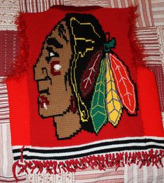 The Mighty Blackhawks Vest - CROCHET