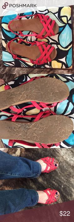 Little red leather Volcom flats Little red leather Volcom flats Volcom Shoes Sandals