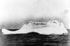 The ice-berg that sunk the Titanic. Taken by the chief steward of the German ocean liner SS Prinz Adalbert, on April 15 while sailing through the North Atlantic mere miles away from where the Titanic had sunk the night before. He spotted a streak of red paint along the iceberg's base, which most likely meant a ship had collided with it in the last twelve hours. 1912