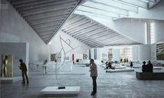 Foundation Bauhaus Dessau Announces Winners of Bauhaus Museum Competition,JA Architecture Studio's place design. Image Courtesy of Bauhaus Dessau Master Room Design, Study Room Design, Chinese Architecture, Architecture Details, Bauhaus Architecture, Steel Structure Buildings, Column Design, Architecture Visualization, Toilet Design