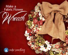Fabric flower #wreath by @Danielle Ritzman Sewing