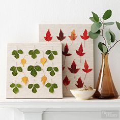 Fall Home Decorating Ideas | Create fall artwork using colorful foliage