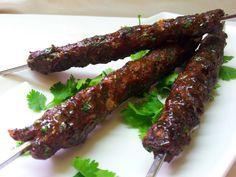 kebab No Salt Recipes, Meat Recipes, Czech Recipes, Starters, Asparagus, Dairy Free, Sausage, Grilling, Pork