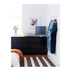 MALM Ladekast 3 lades - black-brown - IKEA