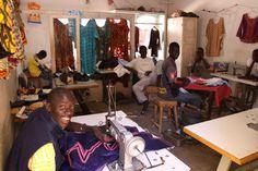 Sewing school in the working class suburb of Guediawaye, Dakar. Fashion show was presented in this suburb in 2014 as part of Dakar Fashion Week.