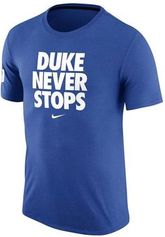 You'll achieve slam-dunk style wearing this men's Nike Duke Blue Devils tee. PRODUCT FEATURES Crewneck Short sleeves Cotton Machine wash Imported