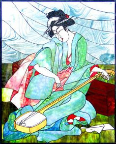 """Geisha with Shamisen"" by Susan Molineaux"