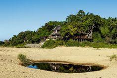 Jock Safari Lodge in Kruger National Park overlooks a serene riverbed