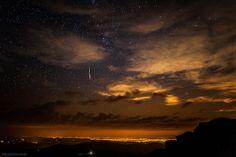 perseid meteor over denver colorado