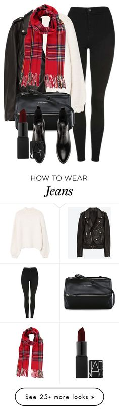"""""""Untitled #7067"""" by laurenmboot on Polyvore featuring Topshop, MANGO, Jakke, Givenchy and NARS Cosmetics"""