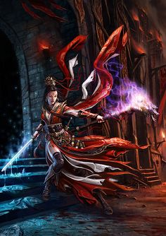 Asian-spin on a Diablo III wizard.