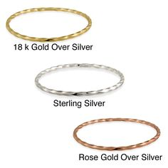 If you are looking for an accessory to add to a party dress, then these attractive, sterling-silver, twist- design bangles may be just the thing. Available in gold, silver and rose gold, no matter what your outfit, there is a bangle to enhance it.