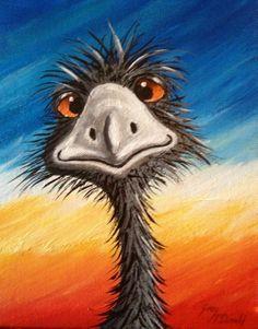Billedresultat for emu paintings Australian Painting, Australian Art, Pelican Art, Original Paintings For Sale, Desert Art, Artists For Kids, Australian Animals, Aboriginal Art, Whimsical Art