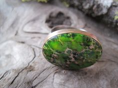 Green Variscite Sterling Silver Ring by SLOANE99 on Etsy