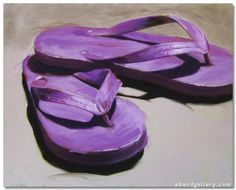 "Tracy Wall | ""Purple Flipflops"""
