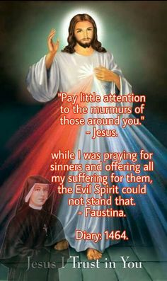 Devine Mercy, Divine Mercy Chaplet, St Faustina Diary, St Maria, Trust In Jesus, Light Skin Girls, Holy Quotes, Autumn Decorating, Evil Spirits