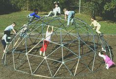 Metal jungle gym dome