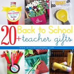 Thoughts for Teacher Appreciation week? Easy, small, cheap, but thoughtful?? 20+ Back to School Teacher Gift Ideas