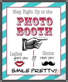 Photo Booth Props - Photo Booth Sign  - Ladies and Gents - Vintage Colors - Photobooth Props - vintage wedding via Etsy