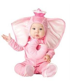 Baby Girls Pink Cute Elephant Animal Carnival Fancy Dress Costume Outfit 6-24m