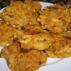 Baked onion bhajis @ http://allrecipes.co.uk