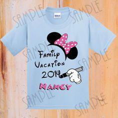 T-shirt Disney Family Vacation Iron On Transfer Printable trip to Disney digital download Personalized Disney Family Vacation