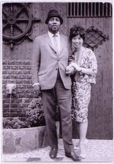 "bainer: "" Thelonious Monk with Reiko Hoshino during Monk's first tour of Japan, May 1963. Ms. Hoshino owned and operated a jazz cafe in Kyoto. """
