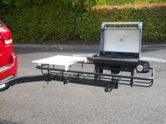 Tailgating grills for trucks. With football season in full swing, these tailgati. - Tailgating grills for trucks. With football season in full swing, these tailgating grills for truck - Camping Grill, Truck Camping, Camping Gear, Grilling, Minivan Camping, Truck Tailgate, Portable Grill, Camping Table, Camping Stuff