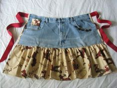 Image result for jean apron ideas
