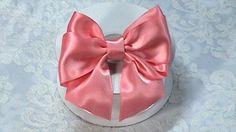 Ribbon Bow, DIY, Hair Bow Tutorial, One piece Ribbon, Variant #2