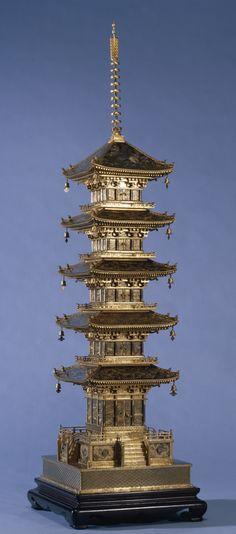 Okimono of a Pagoda