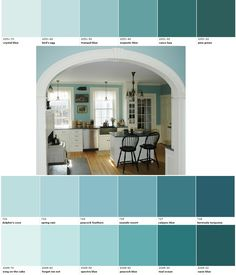 turquoise paints...possible color for sewing room.