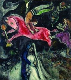 Marc Chagall - 'Le Cheval Rouge' - (1938-44) Georges Pompidou National Center for Art and Culture, Paris.