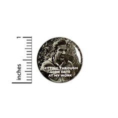 Getting Through Some Days At My Work Button Backpack or Jacket Pinback Random Fun Pin 1 Inch 8-30 Outerspacebacon Wtf Funny, Funny Work, Work Humor, Funny Buttons, Everything Funny, Cool Backpacks, Digital Prints, Random, Crazy Humor