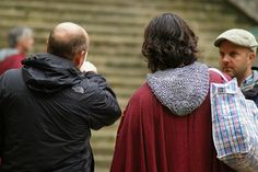 LOL! It's just the back of eoin's head but it still makes me happy :)merlin filming 9/11/2012