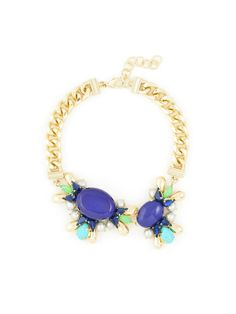 """Amulti-stone collar statement necklace. Lobster Clasp 16.5"""" Length 2"""" Extension Nickel and Lead Compliant (Hypoallergenic)"""