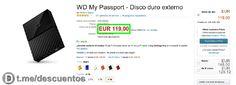 Disco duro WD 4TB disponible por 119 - http://ift.tt/2rwX6ZV