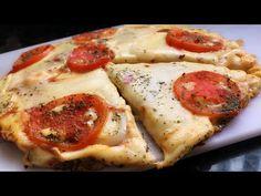PIZZA QUE NÃO VAI AO FORNO PRONTA EM ALGUNS MINUTOS - YouTube Vegetable Pizza, Mashed Potatoes, Gluten, Vegetables, Ethnic Recipes, Food, Youtube, Delicious Recipes, Tasty Food Recipes