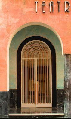 Luis Gutiérrez Soto - 1929-1932 - Door Teatro Góngora, Cordoba, Spain - Art Deco - Photo by Bruce Poole -