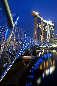 Photograph Helix Bridge Singapore by Glen Espinosa on Places Around The World, The Places Youll Go, Great Places, Places To See, Beautiful Places, Around The Worlds, Amazing Architecture, Art And Architecture, Singapore Architecture