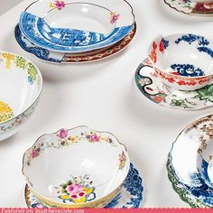 mixing china patterns. in the same dish!