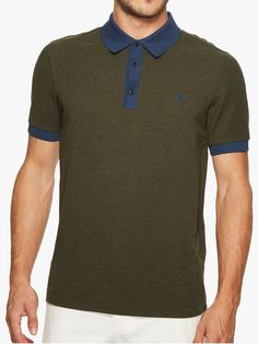 748d9a4ac The Fred Perry Wool Blend Pique Polo In Dark Fern Men s Slim Fit Polo Shirt  From