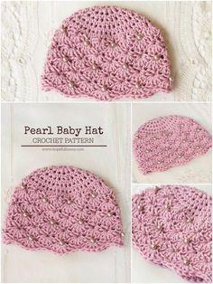 Crochet Pearl Hat: Free Pattern