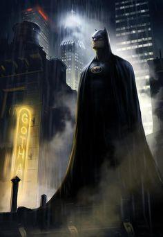 Batman, looks like the 1989 version.